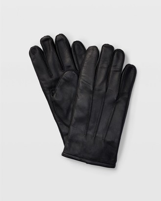 Club Monaco Tech-Enabled Leather Gloves