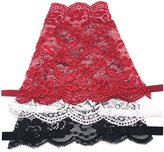 Outman Pack of 3 Full lace Mock Camisole Clip-on Snappy Cami
