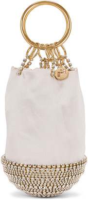 Rosantica Ghizlan Bag in White With Crystals | FWRD
