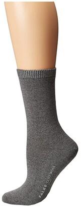 Falke Cosy Wool Sock (Black) Women's Crew Cut Socks Shoes