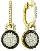 DazzlingRock Collection 0.52 Carat (ctw) 10k Yellow Gold Round & White Diamond Ladies Dangling Earrings
