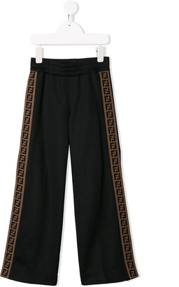 Fendi FF stripe track pants