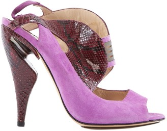 Nicholas Kirkwood Purple Water snake Sandals
