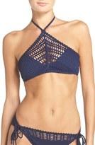 Robin Piccone Women's 'Sophia' Crochet Halter Bikini Top