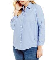 Westbound Plus Button Front Forward Seam Shirt
