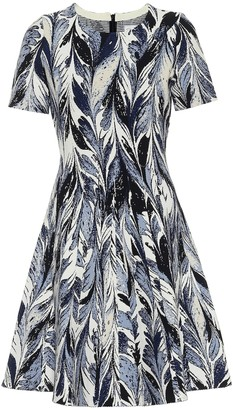 Oscar de la Renta Printed fit-and-flare minidress