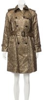 3.1 Phillip Lim Metallic Brocade Trench Coat