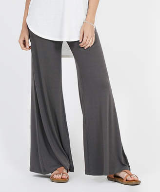 Ash Lydiane Women's Casual Pants Ashgrey Gray Palazzo Pants - Women
