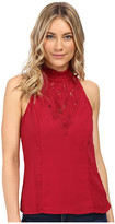 XOXO Contrast Lace Cut Out Top
