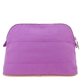 Hermes Bolide Purple Cotton Travel bags
