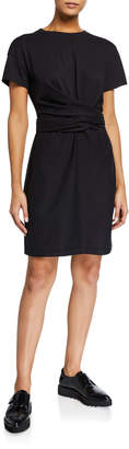 Rag & Bone Aimie Short-Sleeve Tie Dress