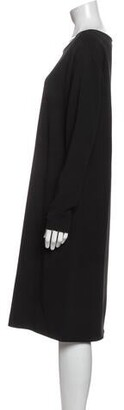 Ter Et Bantine Bateau Neckline Midi Length Dress Black