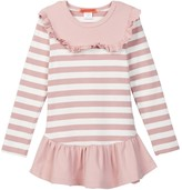 Funkyberry Stripe Ruffle Detail Tunic (Toddler, Little Girls, & Big Girls)