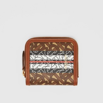 Burberry Monogram Stripe E-canvas and Leather Folding Wallet