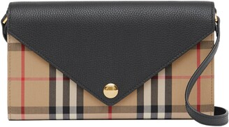 Burberry Hannah Vintage Check Wallet on a Chain