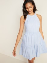 Old Navy Sleeveless Striped Tiered Swing Dress for Women