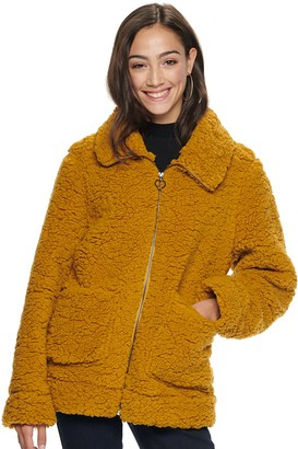 Steve Madden Juniors' NYC Juniors' Zip Front Sherpa Jacket