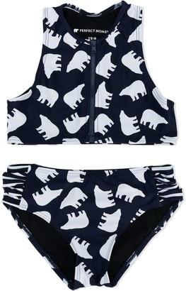 Perfect Moment Kids Bear Print Bikini