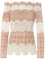 Yigal Azrouel Lace Off-The-Shoulder Top