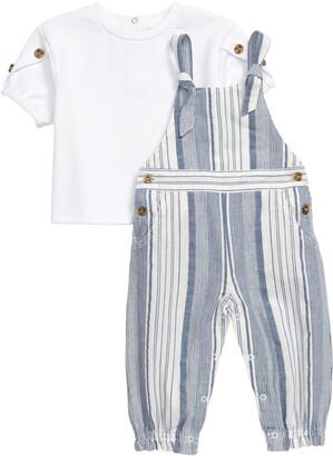 Habitual Kids Symone Shirt & Yard Stripe Jumpsuit Set