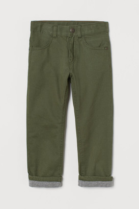 H&M Lined twill trousers