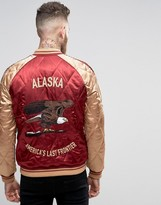 Asos Souvenir Jacket With Alaska Eagle Embroidery