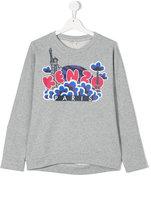 Kenzo graphic logo print top