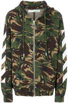 Off-White camouflage zipped hoodie