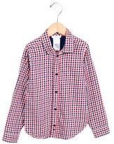 Jacadi Girls' Gingham Button-Up Top