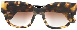 Emmanuelle Khanh Square Frame Tortoiseshell Sunglasses