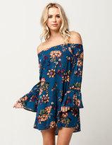 Blu Pepper Floral Off The Shoulder Dress