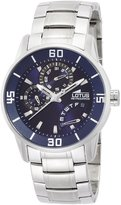 Lotus Men's Quartz Watch with Blue Dial Analogue Display and Silver Stainless Steel Bracelet 15797/2
