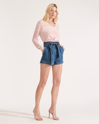 Veronica Beard Nori Paper-Bag-Waist Shorts