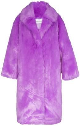 STAND STUDIO oversized Clara faux fur coat