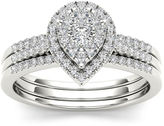 MODERN BRIDE 1/2 CT. T.W. Diamond 10K White Gold Bridal Ring Set
