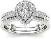 MODERN BRIDE 1/2 CT. T.W. Diamond 10K White Gold Bridal Ring Set