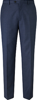 John Lewis Super 100s Wool Flannel Tailored Suit Trousers, Blue