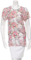 Erdem Ornate Print Short Sleeve Top