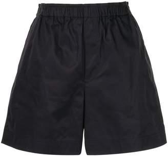 Helmut Lang ruched waistband shorts