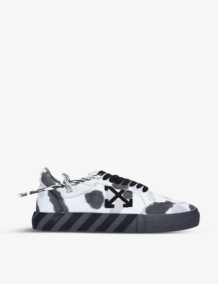 Off-White Tie-dye vulcanised cotton-canvas trainers