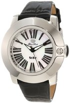 Glam Rock Women's GR31011 SoBe White Mother-Of-Pearl Dial Black Shiny Patent Leather Watch