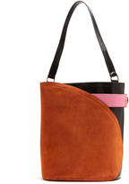 HILLIER BARTLEY Cigar suede and leather tote