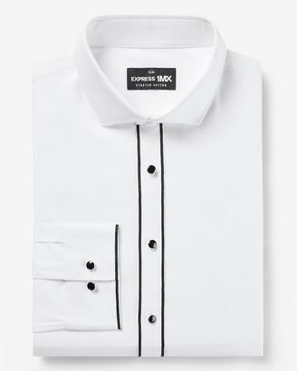 Express Slim Shank Button Tuxedo 1Mx Dress Shirt