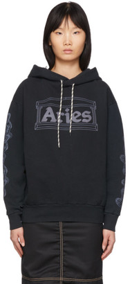 Aries Black 2 Chains Hoodie