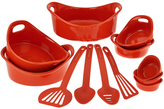 Rachael Ray Orange 12-Piece Round Bakeware Set