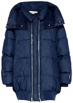 Stella McCartney denim blue mietta coat