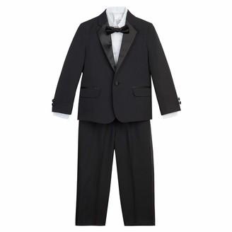 Nautica Boys' Toddler Tuxedo Set with Jacket Pant Shirt and Bow Tie