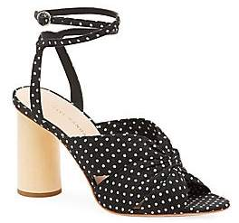 Loeffler Randall Women's Tatiana Polka Dot Cotton Sandals