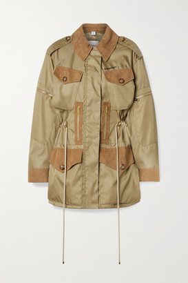 Burberry + Space For Giants Suede-trimmed Nylon Jacket - Beige
