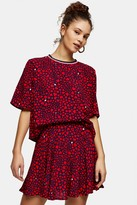 Tommy Hilfiger Womens Heart Print Skirt By Tommy Jeans - Red